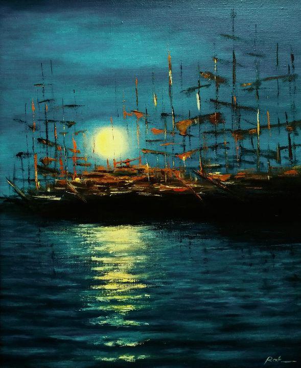 Harbor of old ships - Oleh Rak
