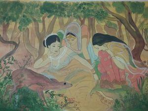 Shakuntala in woods