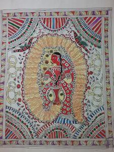 Snake lady - Madhubani art