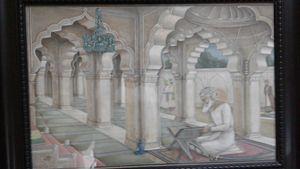 Bahadurshah Zafar reading the Quran