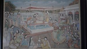 Jhangir and Noor Jahan at Agra Fort