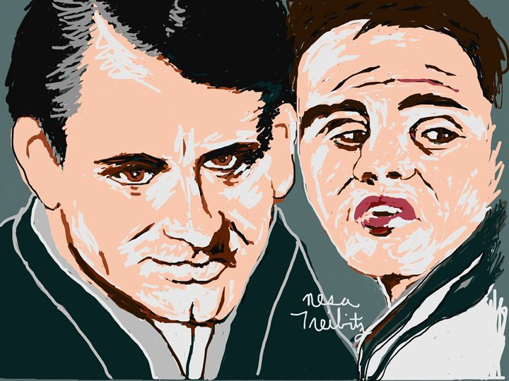 Cary Grant and Marlon Brando - Nesa's Art