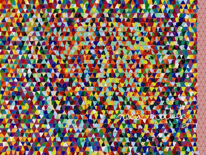 2500 Triangles - Nesa's Art