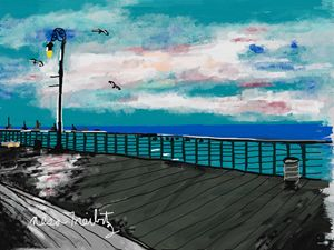 Long Beach Boardwalk - Nesa's Art