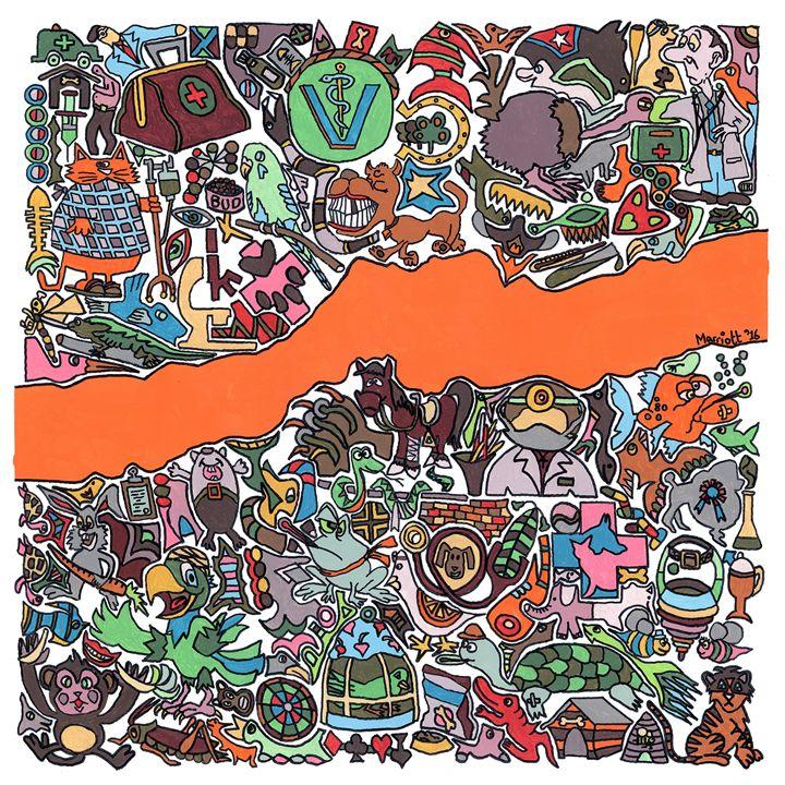 Vetropolis 4 by Clive Marriott - Personalized pop art