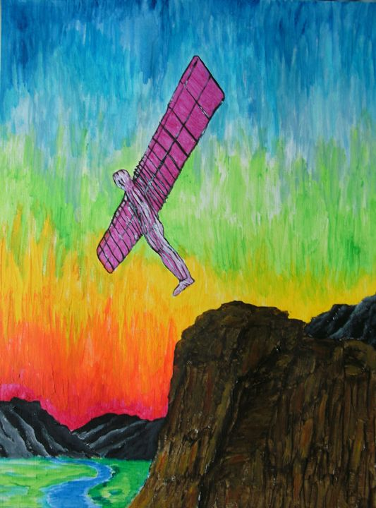 The Gliding Angel - George Hunter Contemporary Artist