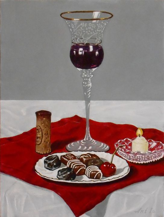 """""""RED WINE, CHOCOLATES AND A CHERRY"""" - arthuris"""