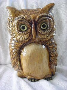 """Mr. Who"" Wooden Owl - DryRiver Carvings and Art"