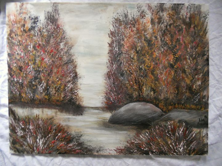 """""""Fall Solitude"""" - DryRiver Carvings and Art"""
