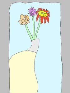 A vase behind the door
