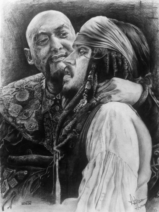 Sao Feng and Jack Sparrow - Adrian