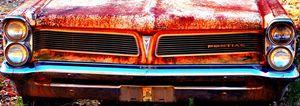 Old Rusty Pontiac