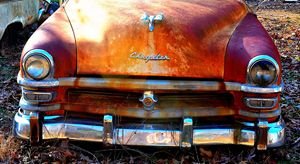 Old rusted Chrysler