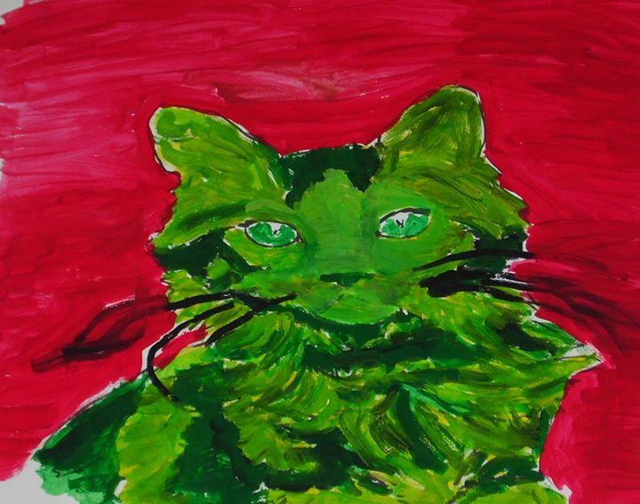 Green cat - Kleckerlabor