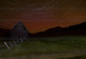 Star Trails over the 97 Barn