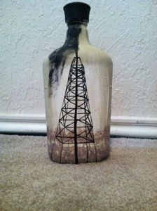 Oil derrick bottle