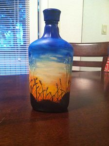 beach sunset bottle