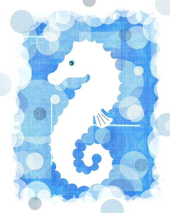 White seahorse - Art by Cheryl Hamilton