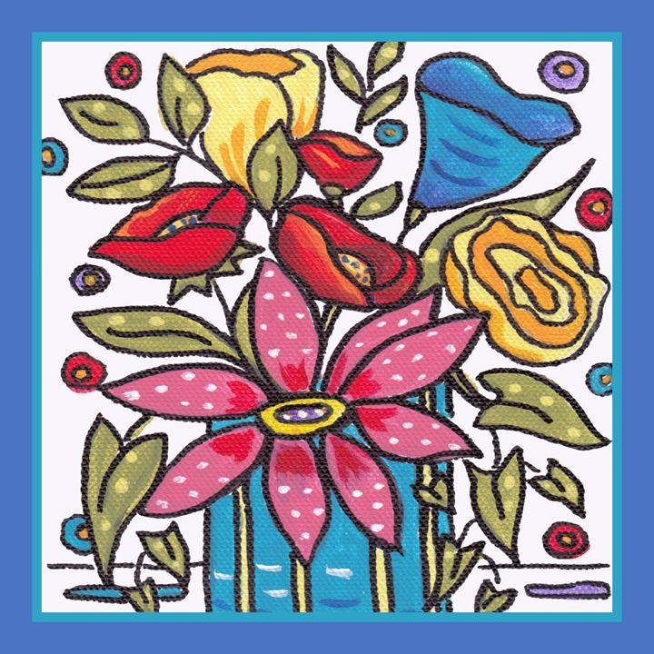 Contemporary flowers - Art by Cheryl Hamilton