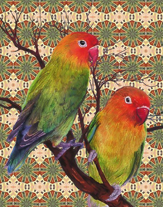 Lovebirds - Art by Cheryl Hamilton