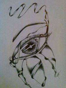 eye over ribbon