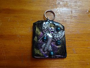 galaxy hummingbird pendant