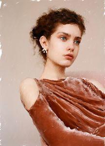 A Pre-Raphaelite study