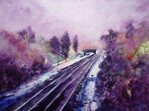 December at Belper Train Station
