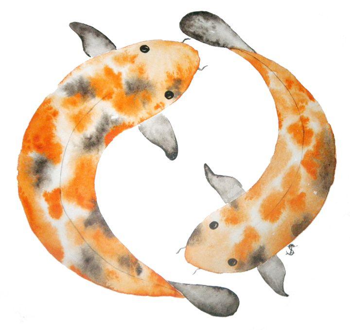 Koi fish - Art_Loo