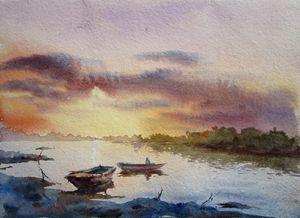 SUNSET RAVI RIVER LAHORE