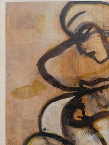 """""""Philosopher"""" original pigment  cork"""