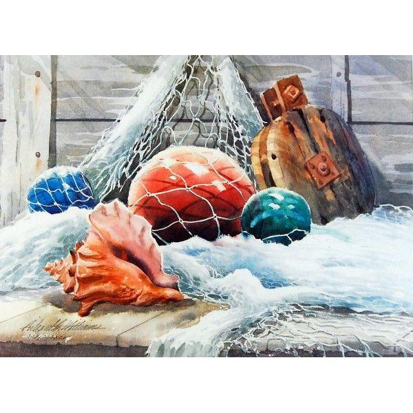 Glass balls and Net - Discounted Artwork