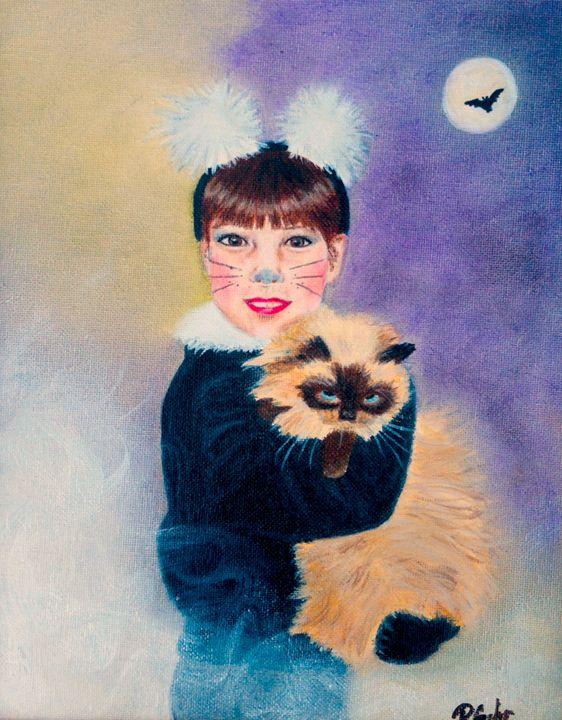 Scaredy Cat on Hallow's Eve - Dr Pat's Art
