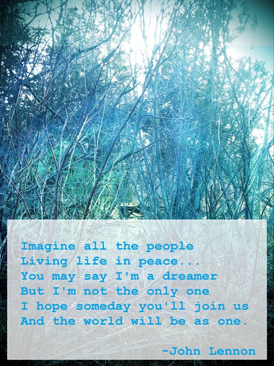 Imagine All the People Life in Peace - Zen Journey