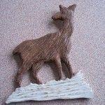 Wood Carved Decorative Deer