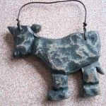 Wood Carved Calf