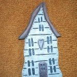 Wood Carved Halloween House