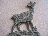 Wood Carved Deer