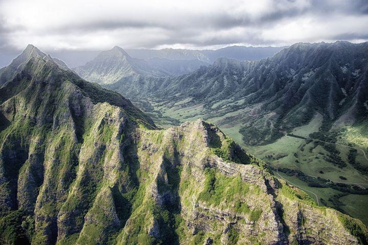 Hawaii Mountains - FriendlyChimpArt