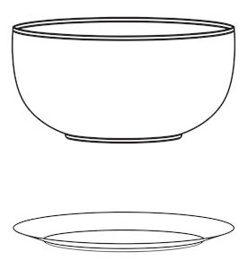plate with bowl