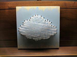 Cloud string art