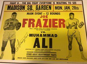 Ali vs Frazier 2 signed fight poster
