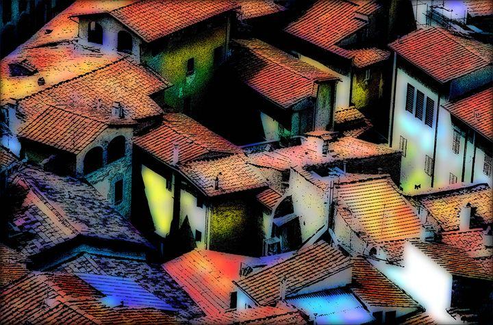 roofs od Florence - Brut Carniollus Digital Art