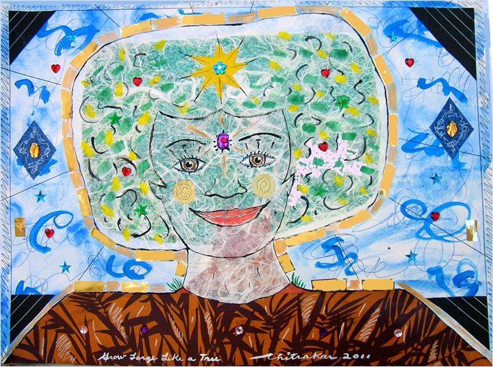 Grow Large Like a Tree - Harry Chitrakar Kottler's Paintings