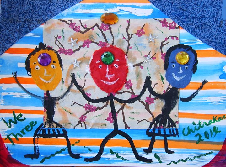 We Three - Harry Chitrakar Kottler's Paintings