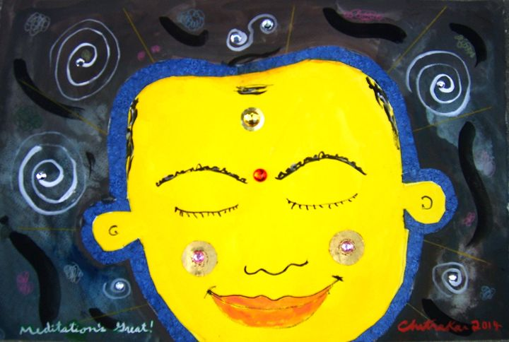 Meditation's Great! - Harry Chitrakar Kottler's Paintings