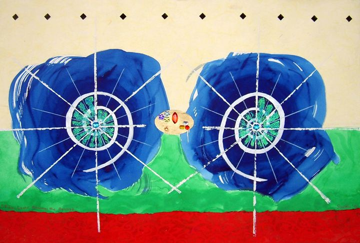 The Lover Becomes the Beloved - Harry Chitrakar Kottler's Paintings