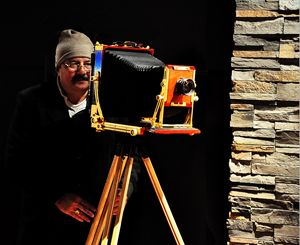 Man with his camera