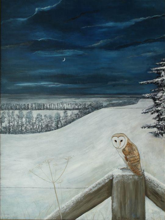 A Barn Owl by the Ridgeway - Robert Harris