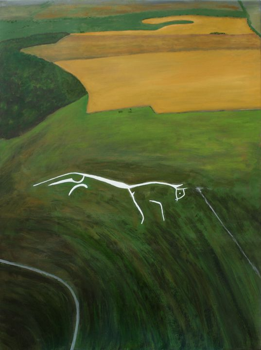 Uffington White Horse Aerial View - Robert Harris